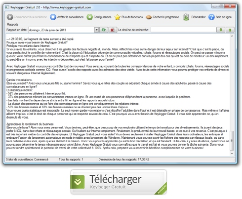 Telecharger keylogger gratuit invisible